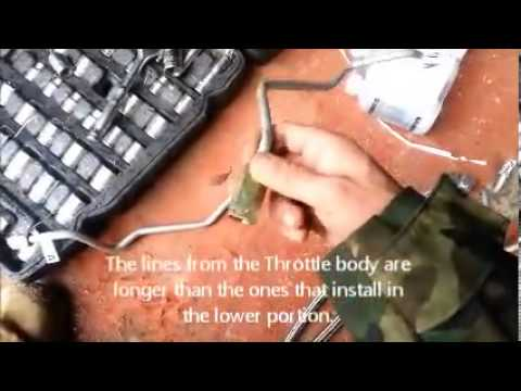 Fuel Line Installation for Chevy Truck - YouTube