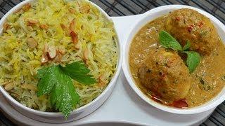 Celery Basmathi Pulao - By Vahchef @ Vahrehvah.com