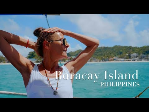 ⛵️🌴 Visit Boracay Island White Sands ▶ Beautiful Place in the Philippines 4K