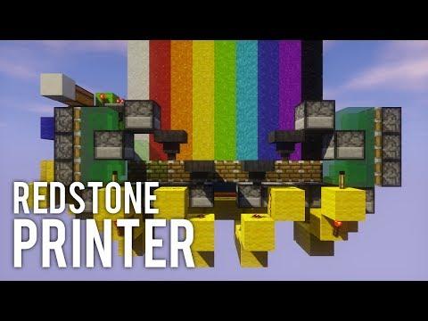 Concrete Printer With 9 Colours | Minecraft Redstone Tutorial