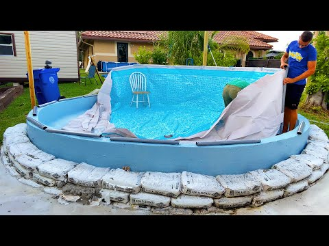 Converting A Plastic POOL InTo A KOI POND!!