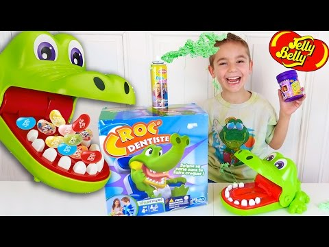 CROCODILE DENTIST CHALLENGE - Surprises ou Jelly Belly ? - Jeu Croc Dentiste