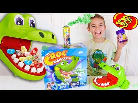 CROCODILE DENTIST CHALLENGE - Surprises ou Jelly Belly ? - Jeu Croc Dentiste