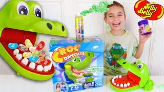 CROCODILE DENTIST CHALLENGE - Surprises ou Jelly Belly ? - Jeu Croc Dentiste streaming
