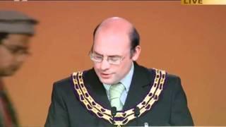 Robert Saunders, Mayor of Alton at Ahmadiyya Muslim Jalsa Salana UK 2011