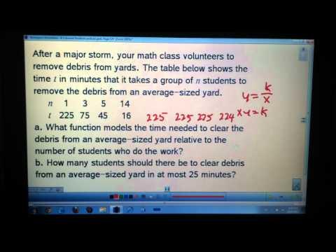 Algebra C 8-1 Inverse Variation
