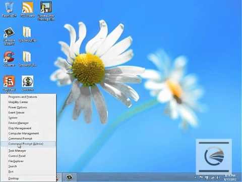 Using The Win Key plus X in Windows 8