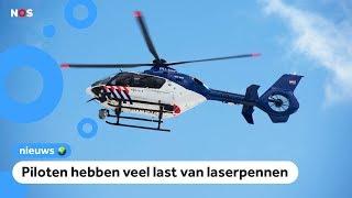 Kind schijnt met laser op politiehelikopter