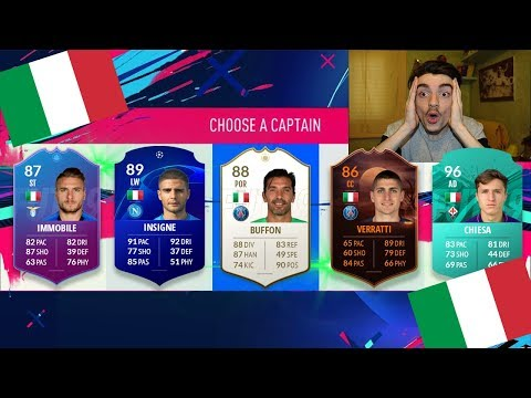 IL DRAFT SOLO ITALIANI !!! DRAFT CHALLENGE FIFA 19 ITA