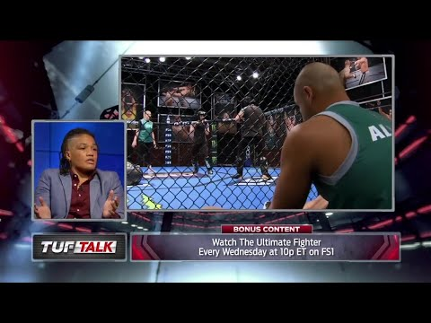 Sijara Eubanks talks about Eddie Alvarez's ability to coach women | TUF TALK