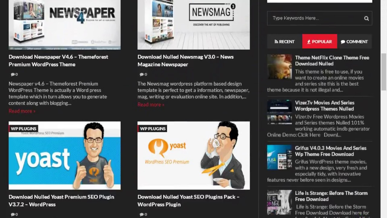 Free Download Nulled Psyplay Wordpress Movies and Series Theme