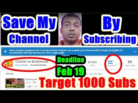 Save 'Cricket Vs Bollywood' My English Channel By Subscribing It
