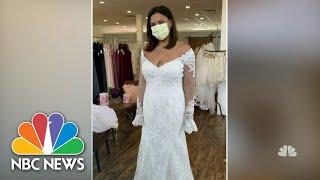 COVID-19 Heroes Find Dream Wedding Dresses Through Brides Across America | NBC Nightly News