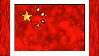 How to Draw China Flag Blur Light Color 3D Flag | Draw the Chinese Flag | Little Channel | 3D Flags