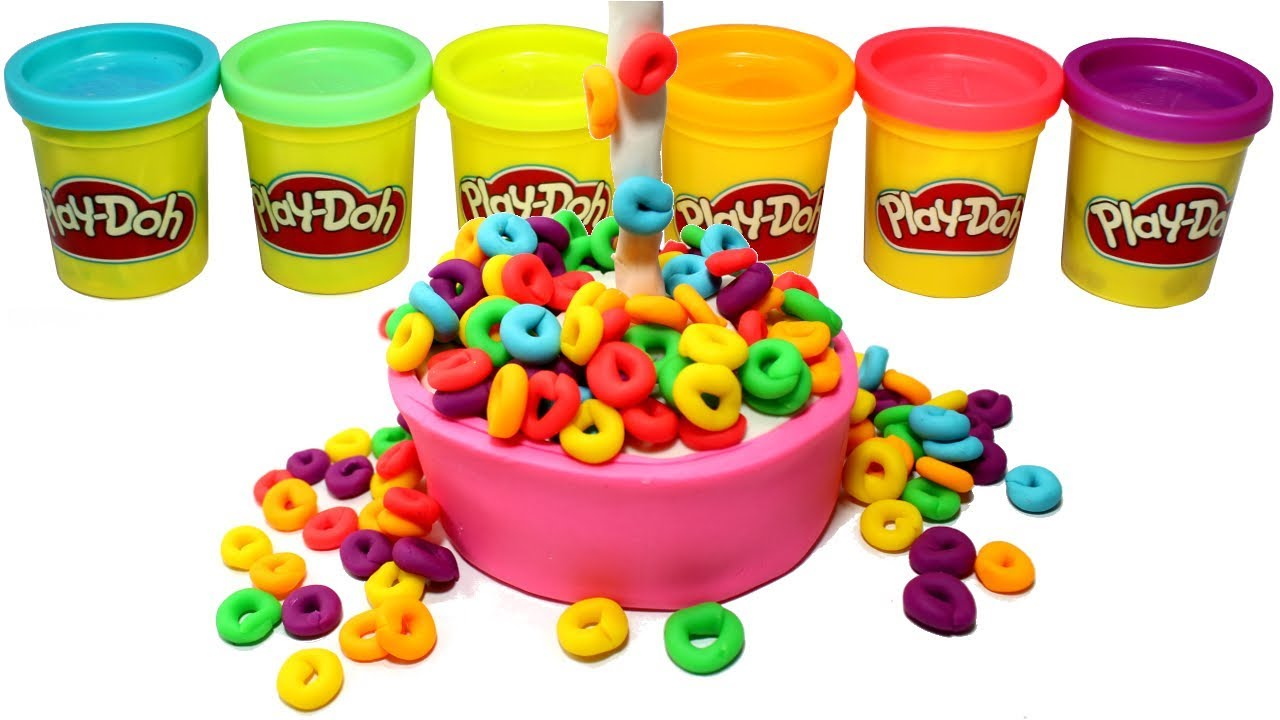 Play Doh Cheerios How To Make Rainbow Froot Loops Cereal Bowl Creative For Kids