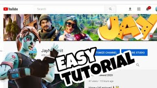 HOW TO CHANGE YΟUR YOUTUBE BANNER (2020) quick and easy