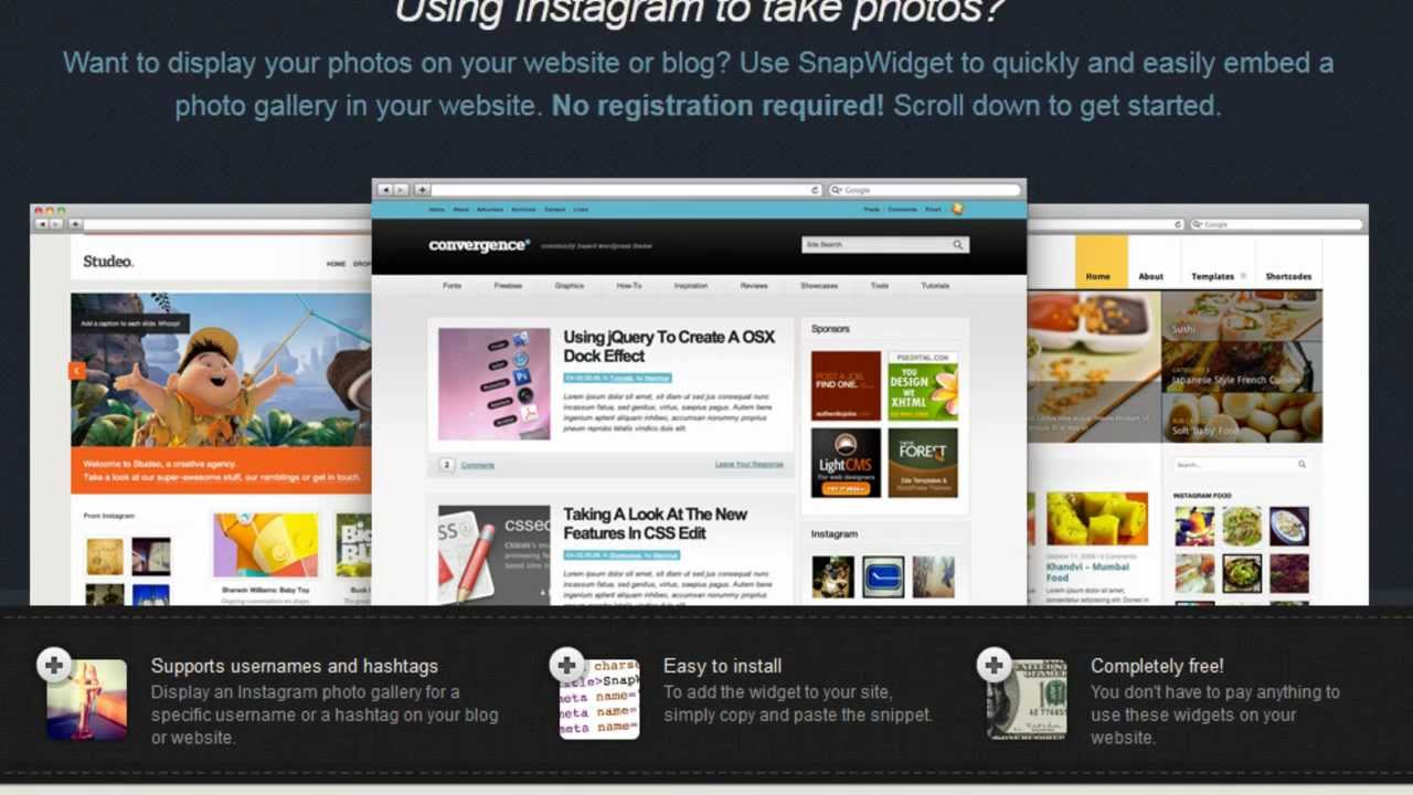 How to add an instagram photo gallery widget to your website or blog how to add an instagram photo gallery widget to your website or blog youtube ccuart Choice Image