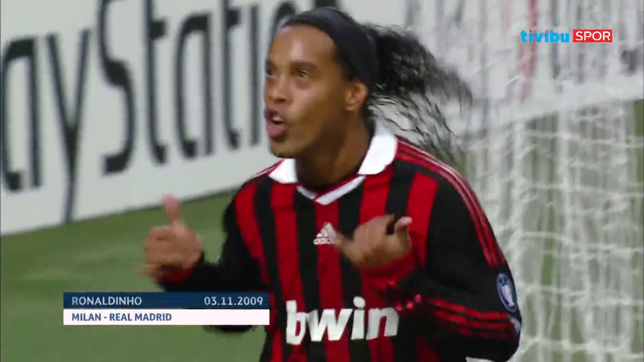 Ronaldinho'nun UEFA Şampiyonlar Ligi'ndeki Tüm Golleri