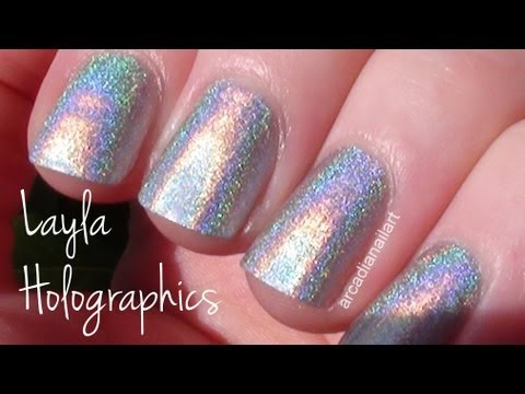 Holographic Polishes by Layla - Swatches and Review