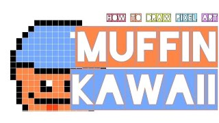 how to draw a kawaii mini muffin who pokes/sticks tongue out | pixel art doodle