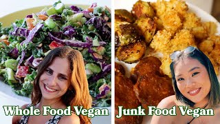 What A Whole Foods, Junk Food, & Keto Vegan Eat In A Day