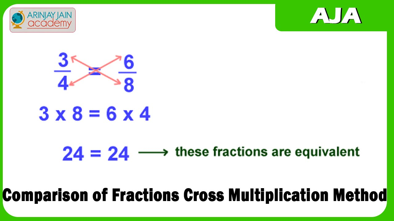 1199. Comparison of Fractions Cross Multiplication Method - YouTube