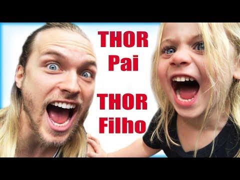 Ale e Blue na Comic Con - Thor Pai Thor Filho