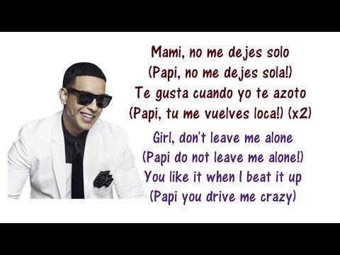 Daddy Yankee - No Me Dejes Solo Lyrics English & Spanish ft  Wisin y Yandel - Translation & Meaning