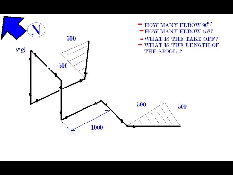 hqdefault isometric drawing orientation northing bending 6 with computation