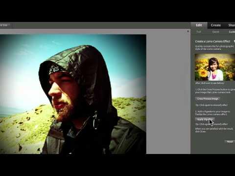 Photoshop Elements 9-New Lomo Effect
