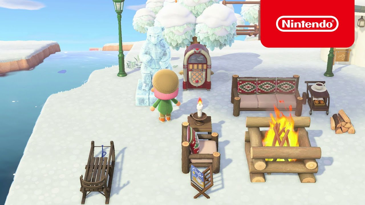Your island in January! – Animal Crossing: New Horizons (Nintendo Switch)