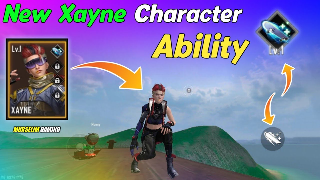 Xayne Character in Free Fire OB27 Update