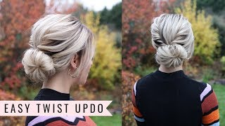 Easy Twist Updo by SweetHearts Hair