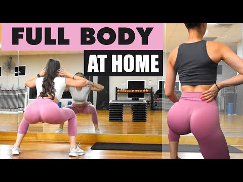 4 in 1 FULL BODY Workout Routine | Booty, Abs, Back, Arms, Legs AT HOME | Beginner and Advanced