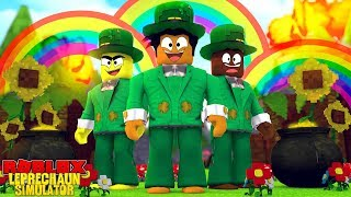 ROBLOX LEPRECHAUN SIMULATOR - IS THERE RALLY A POT OF GOLD AT THE END OF A RAINBOW??