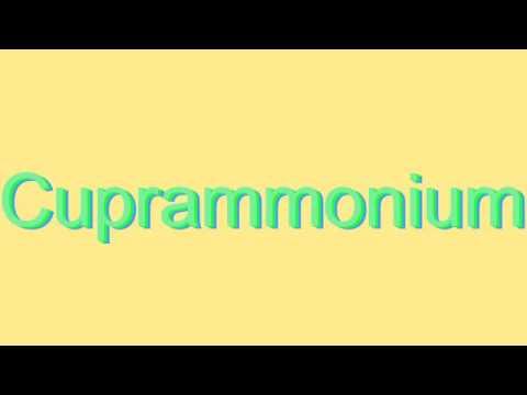How to Pronounce Cuprammonium