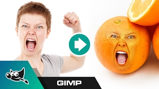 GIMP Tutorial: Put Someone's Face on an Object