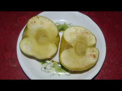 Печеные яблоки в микроволновке. Полезный и вкусный десерт за 5 минут.