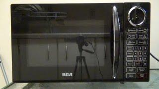 RCA 0.9 cu. ft. Black Microwave