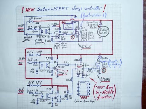 Pwm Solar Charge Controller Circuit Diagram Bmw E46 Car Stereo Wiring 12v Mppt New Youtube