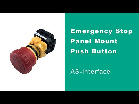 New Panel Mount Emergency Stop Button Options for AS-Interface