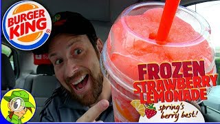 Burger King® | Frozen Strawberry Lemonade Review ❄️🍓🍋 | Peep THIS Out! 🍔👑