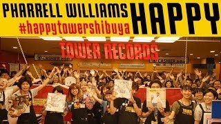 """Happy"" TOWER RECORDS SHIBUYA version. Store Staff and Artists are ..."