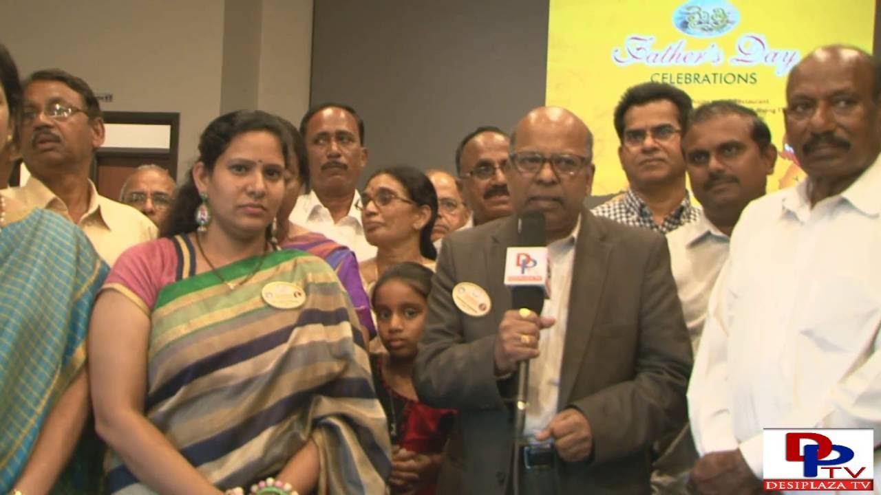 Subbu Jonnalagadda,TANTEX President speaking to Desiplaza TV  at Father's Day celebration