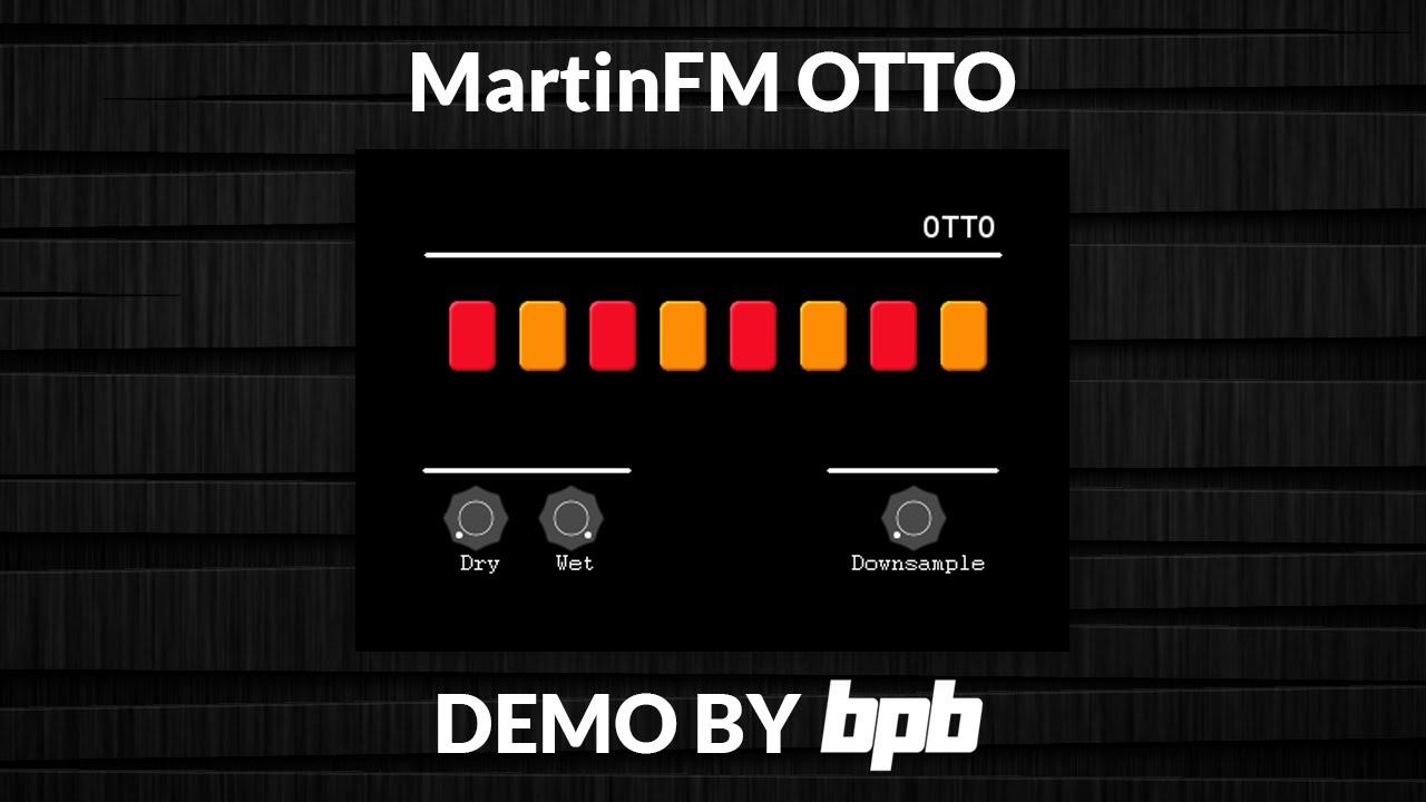 Otto - Freeware Bitcrusher VST/AU Plugin By MartinFM - Bedroom