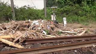 東峰村 7.5豪雨水害の復旧工事 JR宝珠山駅 日田彦山線