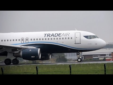 Trade Air Airbus A320-212 Landing At Belgrade Airport