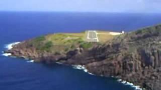 landing in Saba