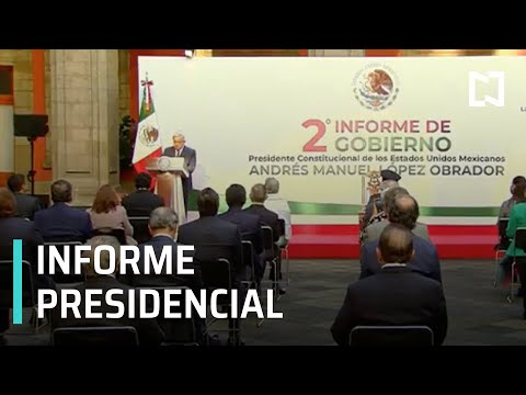 En vivo: Informe presidencial de Andrés Manuel López Obrador