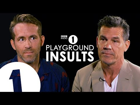 Ryan Reynolds and Josh Brolin Insult Each Other  CONTAINS STRONG LANGUAGE!